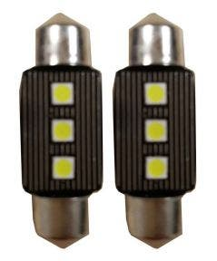 Canbus-LED-3SMD-C5W-Binnenverlichting-6000k-Wit