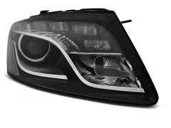 LED koplamp units geschikt voor Audi Q5 08-12 TRU DRL Black Edition