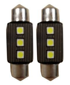 Canbus-LED-3SMD-C5W-Binnenverlichting-6000k-Wit