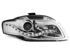 LED koplamp units, geschikt voor Audi A4 B7 04-08 Chrome DRL