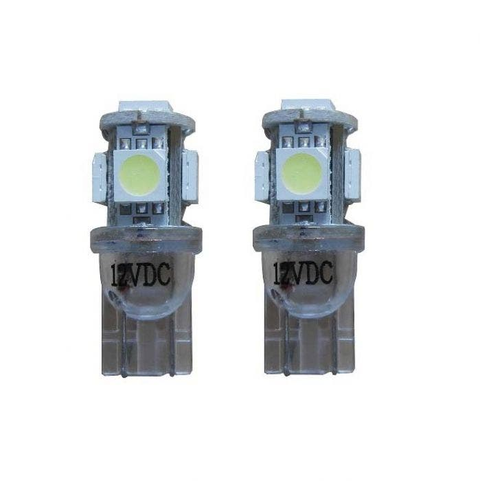 5 SMD LED Knipperlicht W5W - wit